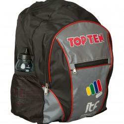 """Рюкзак TOP TEN""""ITF"""" 42x30x15cm, черный-серый"""