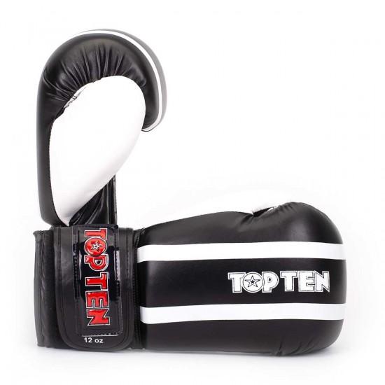 "Перчатки Бокс TOP TEN ""Stripe"" Черно-белые"